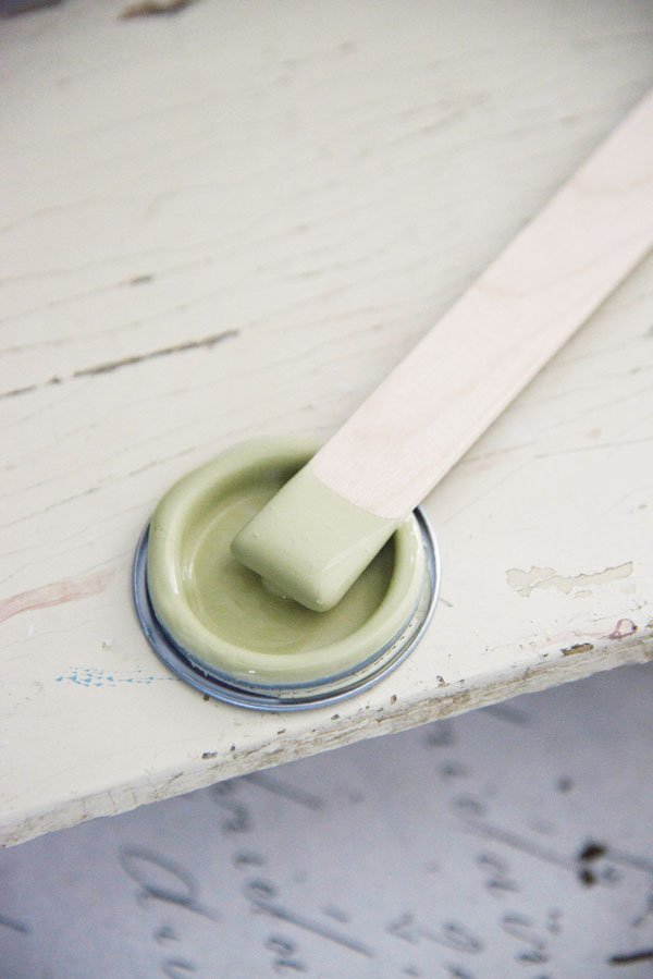 Vernici shabby vintage paint antique green
