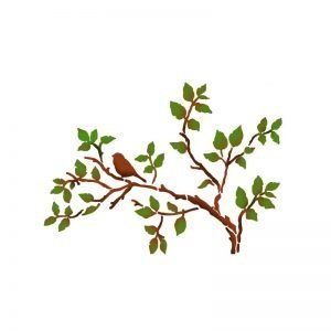 staperia stencil albero con uccellini