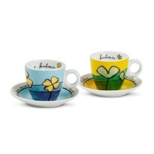 Set 2 Tazze Caffè Pane Amore e Fantasia C