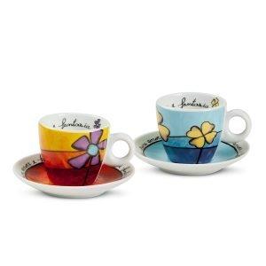 Set 2 Tazze Caffè Pane Amore e Fantasia S