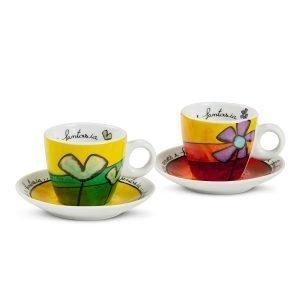 Set 2 Tazze Caffè Pane Amore e Fantasia