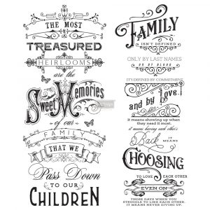 Redesign transfers family heirlooms