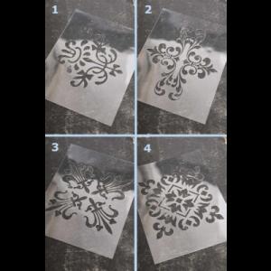 Stencil Vintage 4 Motifes