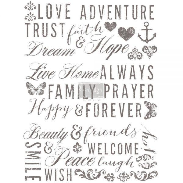 Redesign Transfer Words Love