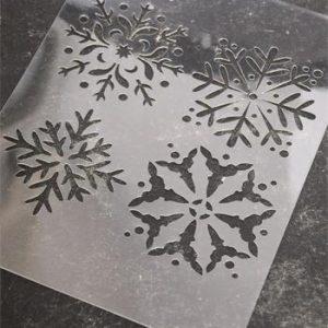 Stencil Vintage Paint Snowflakes