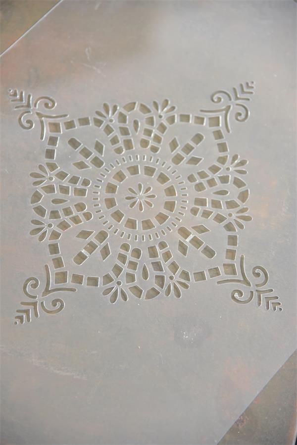 Stencil Vintage Mandala Quadrato