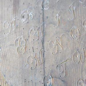 Stencil Vintage Alfabeto Corsivo