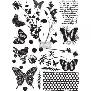 Redesign Transfer Papillon 43x58cm