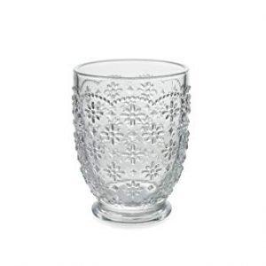 Set 6 Bicchieri Acqua Trasparenti Vetro Sicilia