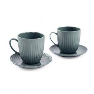 Set 2 TAZZINE da Caffe' Grigie, Linea ARITA