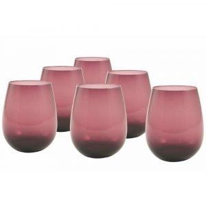 Set 6 Bicchieri Viola, Vetro