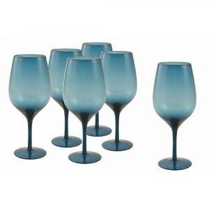 Set 6 calici Blu Vetro_2197359