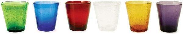 Set 6 Bicchieri Multicolore