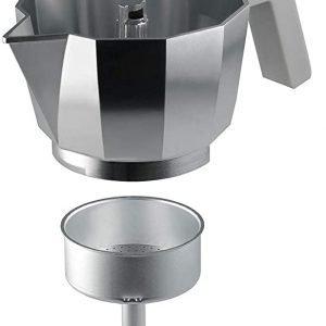 ALESSI Caffettiera 3 tazze in alluminio, Moka