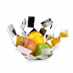 ALESSI Fruttiera in acciaio colorato bianco