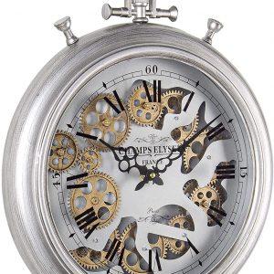 BIZZOTTO Orologio da Parete Grigio in Acciaio e Vetro Engrenage D40