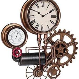 BIZZOTTO Orologio da Parete con Termometro Stile Industrial Charles System 119-1