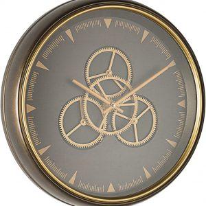 BIZZOTTO Orologio da Parete in Acciaio e Vetro Engrenage M06 D50