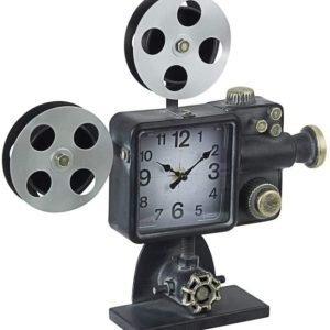 BIZZOTTO Orologio da Tavolo in Acciaio Stile Industrial Charles Cinema 078