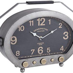 BIZZOTTO Orologio da Tavolo in Acciaio Stile Industrial Charles Radius 194-1