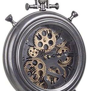 BIZZOTTO Orologio da Tavolo in Ferro Engrenage D28