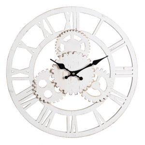 Orologio Shabby da parete bianco Process_01