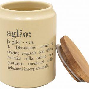 Victionary Barattolo Aglio, Porcellana con coperchio Bamboo