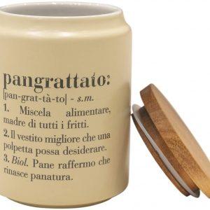 Victionary Barattolo Pangrattato con coperchio bamboo, Crema 800ml