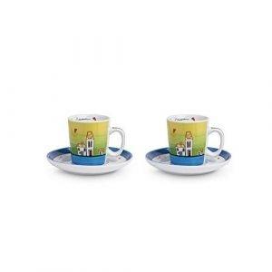 EGAN Set 2 tazze caffè, Porcellana, Avorio, Small